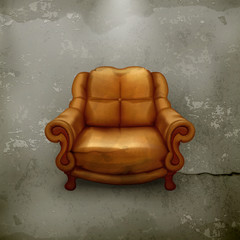 Chair, old-style vector