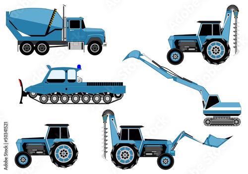 tractor, truck