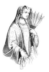 Noble Dame - Italy - 16th century - Renaissance