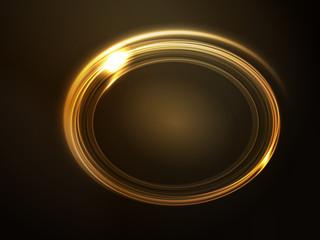 Vector frame, golden