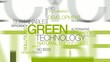 Green technology environmental word tag cloud animation