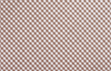 brown checkered fabric