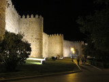 Famous medieval city walls in Avila, Spain