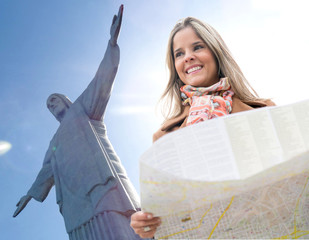 Woman traveling to Rio