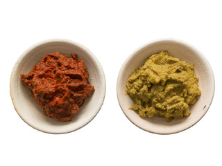 indian red and yellow curry paste