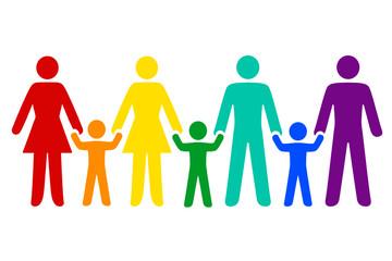 Regenbogenfamilie, Vielfalt in bunt