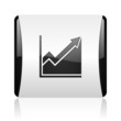 histogram black and white square web glossy icon