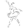 Ballett Ballerina Abstrakt Silhouette
