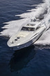 Italy, Tyrrhenian sea, Rizzardi 73 luxury yacht, aerial view