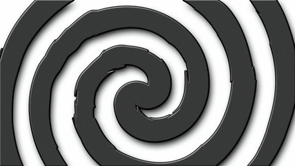 Black and white cartoon hypnosis circle (seamless loop)