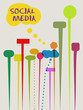 social networks and media concept, speech bubbles, vector