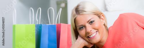 glücklicher einkauf