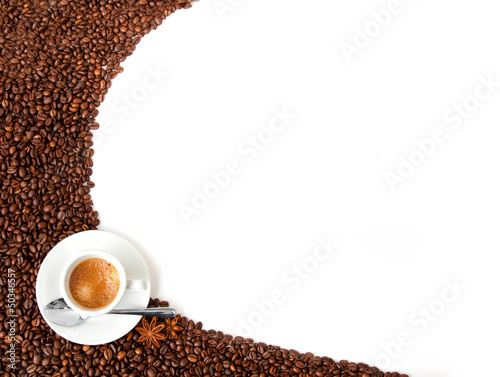 Foto op Canvas Cafe sfondo caffè
