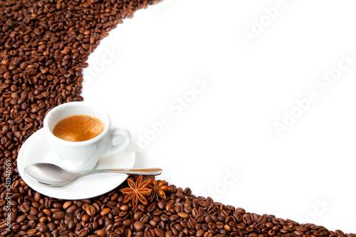 Plexiglas Cafe sfondo caffè