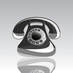 Illustration of Icon of old phone