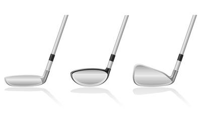 golf club vector illustration