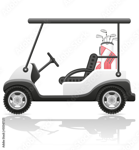 golf car vector illustration