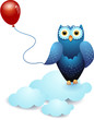 Owl and balloon