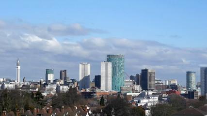 Birmingham England City Centre Skyline Timelapse