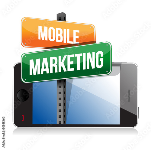 Smart phone with mobile marketing sign
