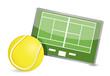 Tennis field tactic table, Tennis balls