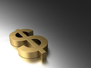 metal background with dollar
