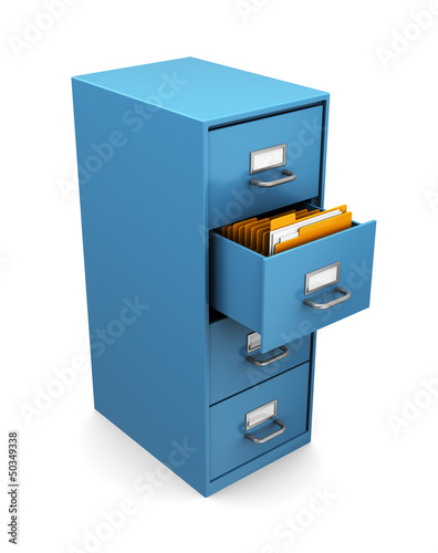3d cabinet with folders