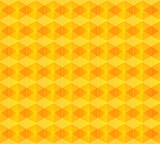 Yellow vector abstract rhombus background