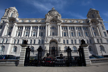 Port of Liverpool building in Liverpool, Great Britain
