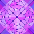 Violet stained glass abstract vector background