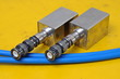 Used BNC connectors and telecommunication accessories