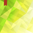 Green triangles abstract background with red tag. Vector, EPS10