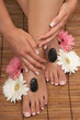 canvas print picture Pedicure and Manicure