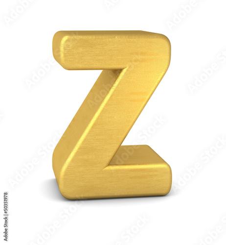 buchstabe letter Z gold vertikal