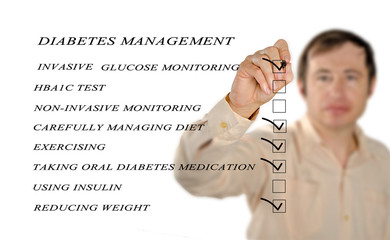 checklist for diabetes managment