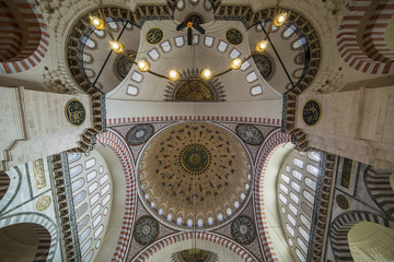 Dome of The Suleymaniye Mosque, Istanbul, Turkey