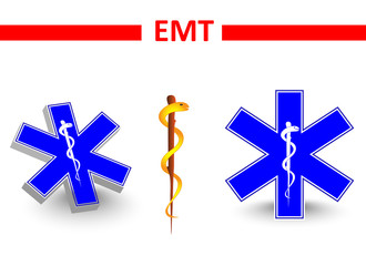 emt. St Andrew's cross and Eskulap