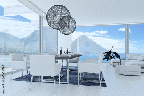 3D Interior of Modern Dining Room / Dining Table