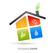 logo business eco house