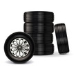 Vector set of car wheels