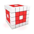 Red-white cube