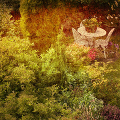 grunge cottage garden