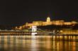 Buda et le Danube de nuit à Budapest
