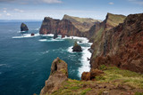 beautiful coastline on madeira island, portugal