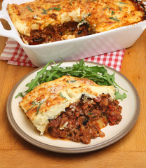 Homemade Moussaka Meal