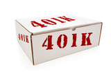 White Box with 401K on Sides Isolated poster