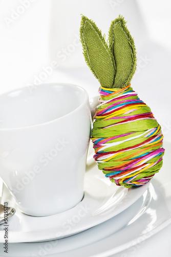 Kaffeetasse mit Osterdekoei