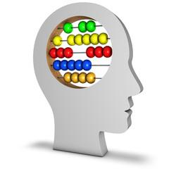 Kopf mit Abacus