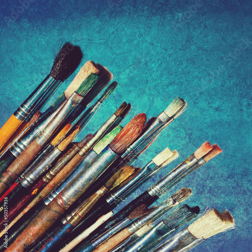 grunge paintbrushes