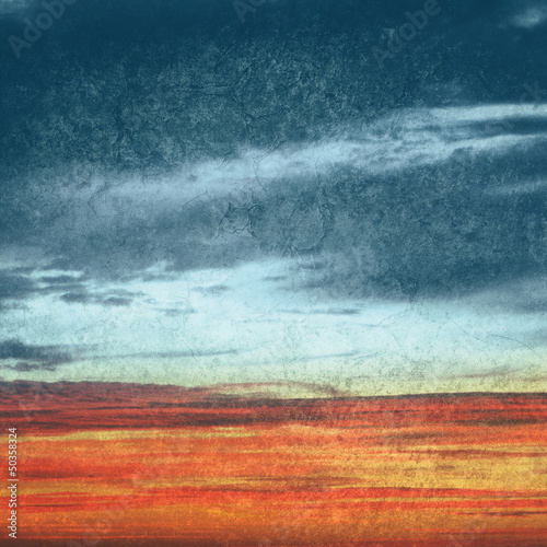 textured sunset